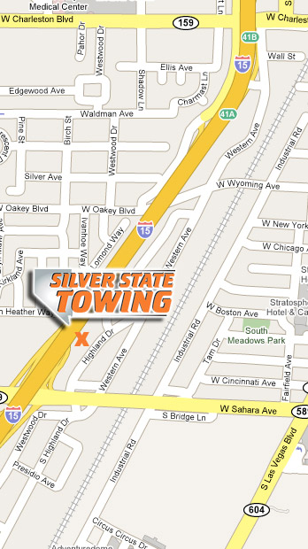 Silver State Towing Map Directions